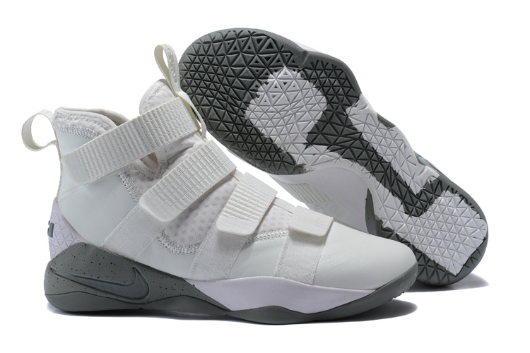 Cheap Nike LeBron Soldier 11 SFG Light Bone Dark Stucco-Black For Sale