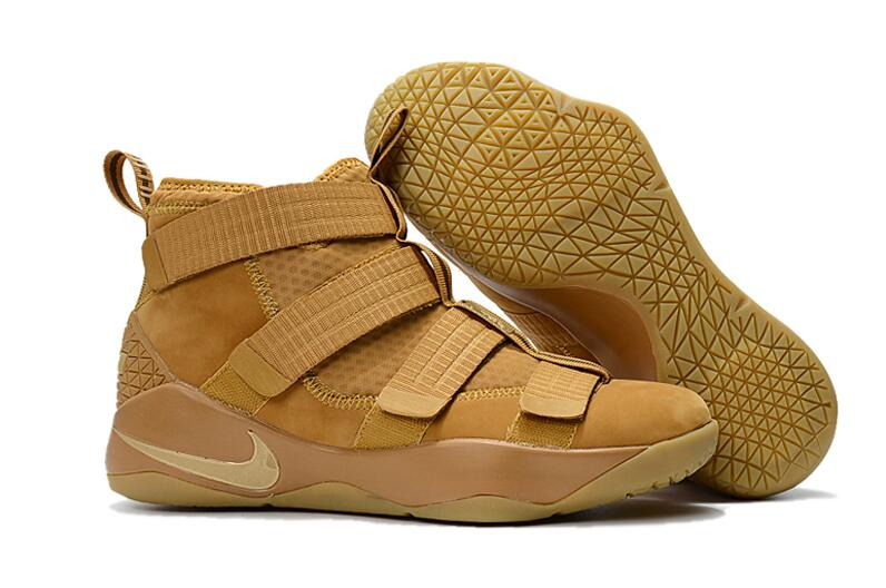 Cheap Nike LeBron Soldier 11 Wheat Wheat Gold Metallic Gold For Sale