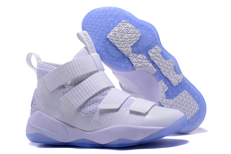 Cheap Nike LeBron Soldier 11 White Ice For Sale
