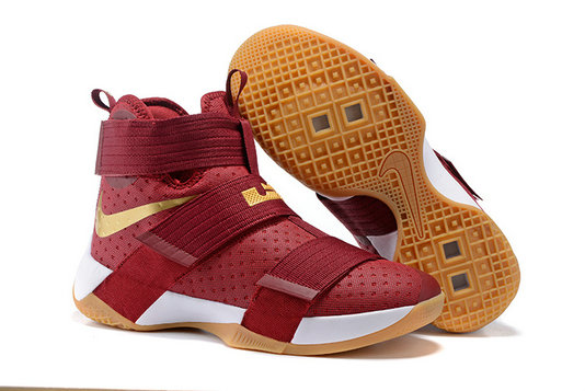 Cheap Nike Lebron Soldier 10 X Gold RED Black