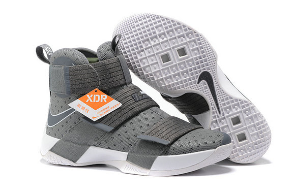Cheap Nike Lebron Soldier 10 X Grey White