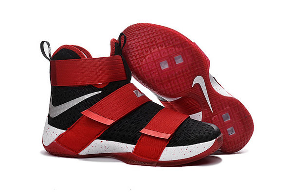 Cheap Nike Lebron Soldier 10 X Red Black White Silver