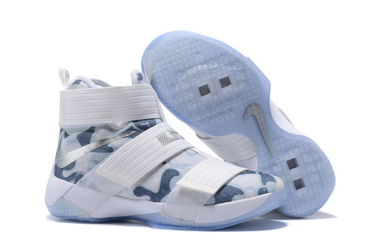 Cheap Nike Lebron Soldier 10 X White Silver