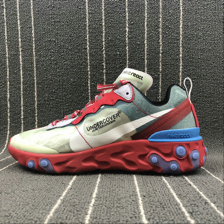 Cheap Nike React Element 87 Undercover Cream ColorRed White Big Red Beige Blanc Rouge