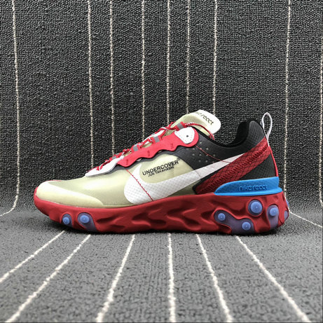 Cheap Nike React Element 87 Undercover Hyaline Big Red White Blanc Transparent Rouge