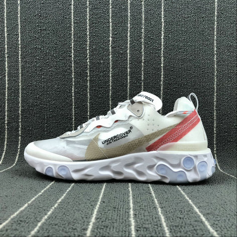 Cheap Nike React Element 87 Undercover Hyaline Big Red-White Blanc Transparent Rouge Blanc