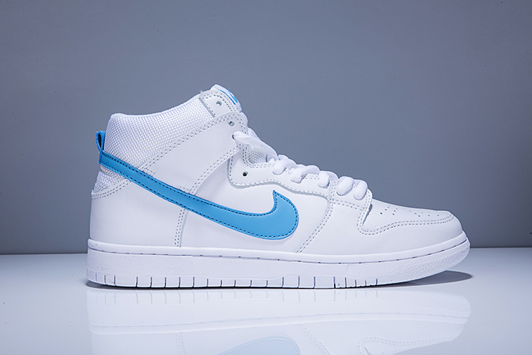 Cheap Nike SB Dunk High Mulder White Blue For Mens