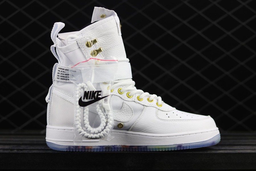 Cheap Nike SF-AF1 Mid Lunar New Year White Habanero Red For Sale
