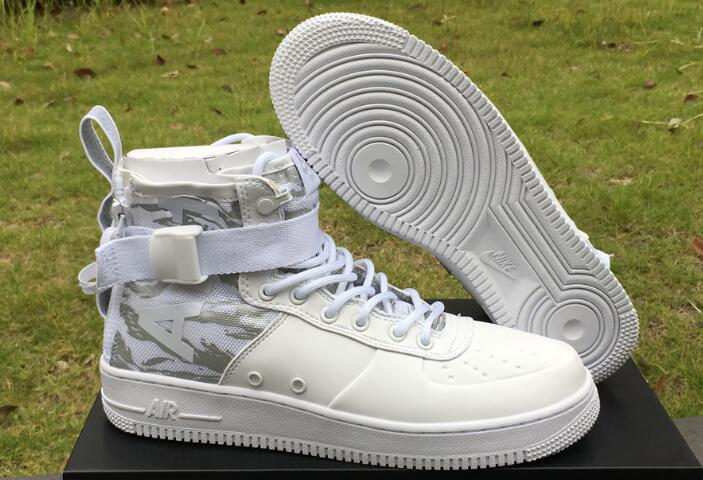 Cheap Nike SF-AF1 Mid White Tiger Camo White Reflect Silver For Sale