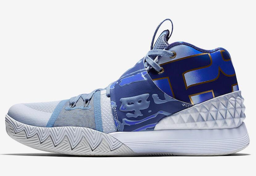 Cheap Nike What The Kyrie S1 Hybrid Blue Gold White AJ5165-902 For Sale