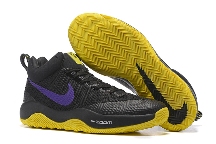Cheap Nike Zoom Hyperrev 2017 Black Yellow Purple Shoes For Sale