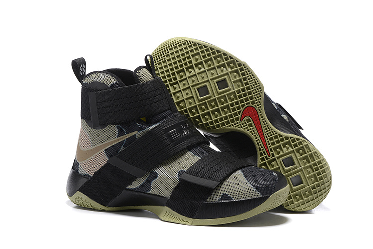 Cheap NikeLebronSoldier 10 Black Grey Green