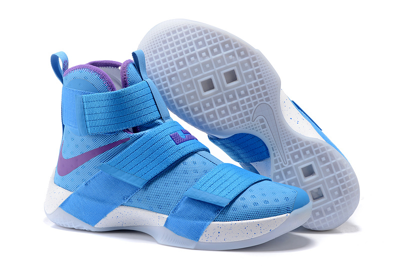 Cheap NikeLebronSoldier 10 Blue Purple White