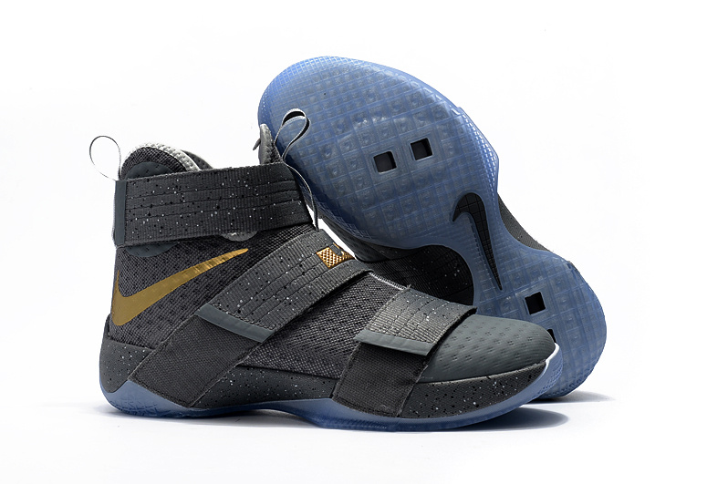 Cheap NikeLebronSoldier 10 Gold Light Blue Dark Grey