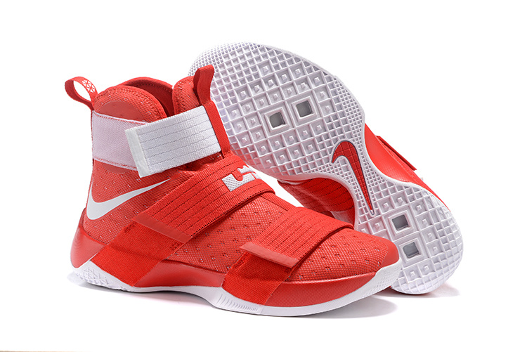 Cheap NikeLebronSoldier 10 Red White