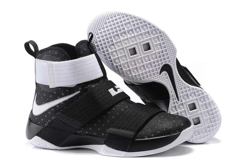 Cheap NikeLebronSoldier 10 WhiteBlack