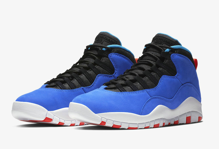 Cheap Nikes Air Jordans 10 Tinker Huarache Light Racer Blue Black-Team Orange-White 310805-408