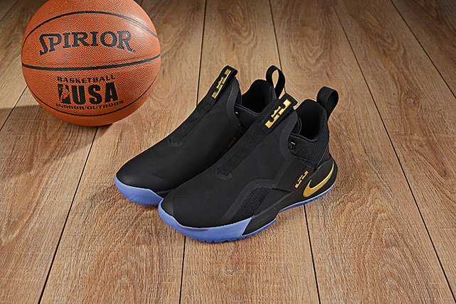 Cheap Nikes LeBron Ambassador 11 Gold Black Light Blue
