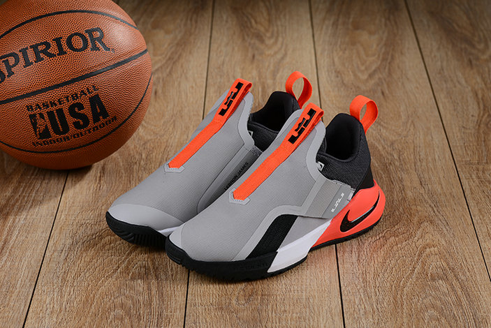 Cheap Nikes LeBron Ambassador 11 Grey Black Orange White