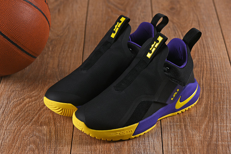 Cheap Nikes LeBron Ambassador 11 Yellow Black Purple