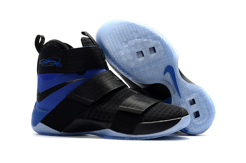 Cheap Sale Nike Lebron Soldier 10 Blue Black
