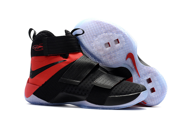 Cheap Sale Nike Lebron Soldier 10 Red Black White
