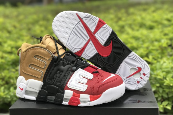 Cheap Supreme x Nike Air More Uptempo Tri-Color For Sale