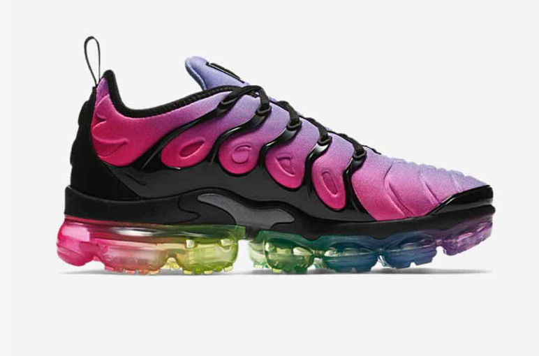 Cheap Womens Nike Air VaporMax Plus Be True Purple Rainbow