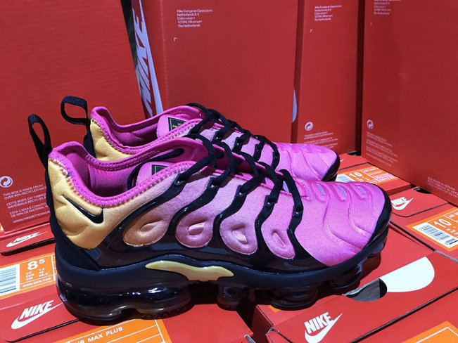 Cheap Womens NikeLab Air VaporMax Plus Purple Yellow Black