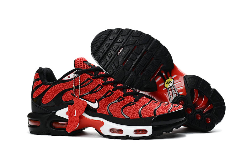 Customize Nike TN Shoes Cheap Nike Air Max Red Black White