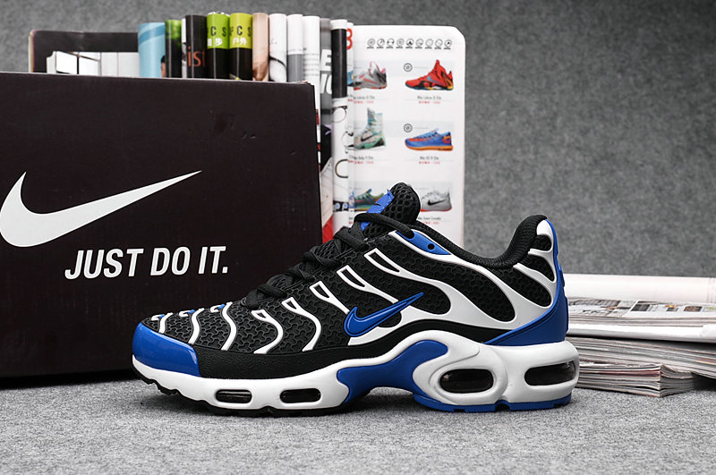 Customize Nike TN Shoes Cheap Nike Air Max White Black Blue