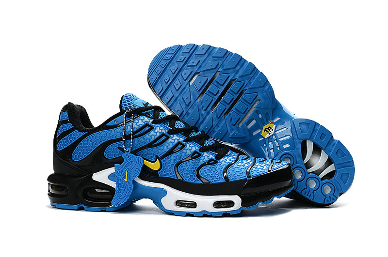Customize Nike TN Shoes Cheap Nike Air Max White Yellow Blue Black White