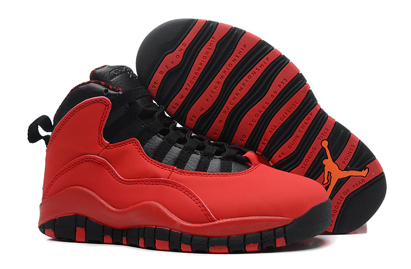 Girls Air Jordans 10 Retro Fusion Red For Sale