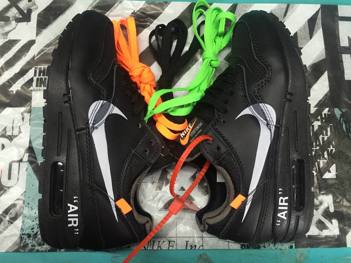 Girls Off-White x Nike Air Max 87 1 All Black White