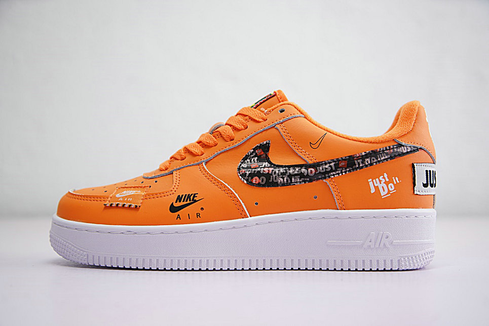 Just do it Womens Nike Air Force 1 Low Orange Black White