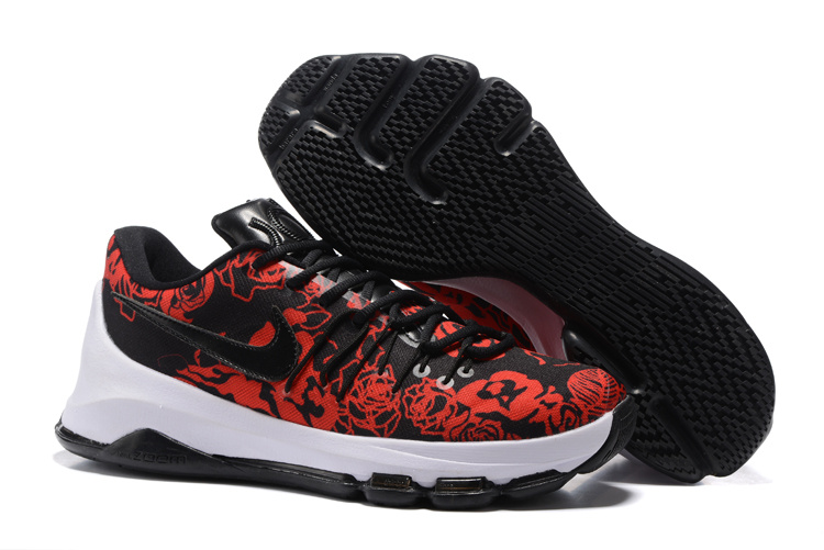 KD 8 EXT Floral Finish Black Black-Gym Red-Summit White 2016 For Sale