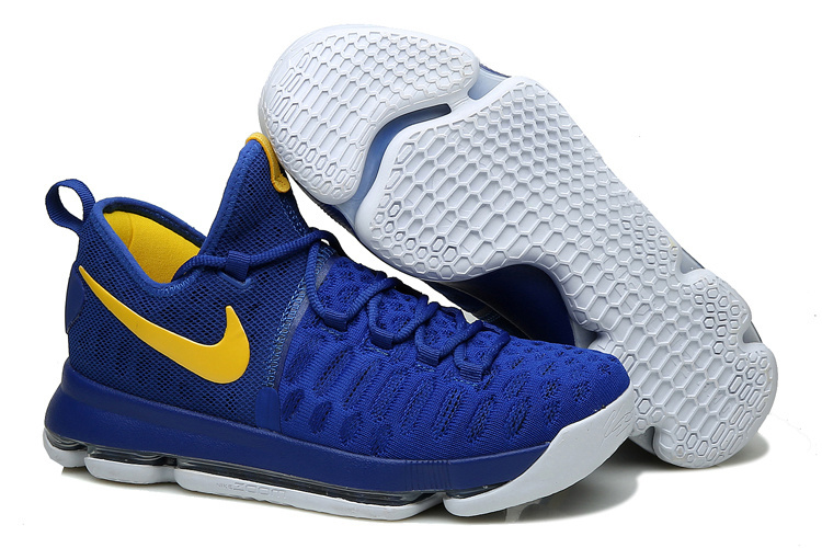 KD 9 Golden State Warriors Blue Yellow White 2016 For Sale