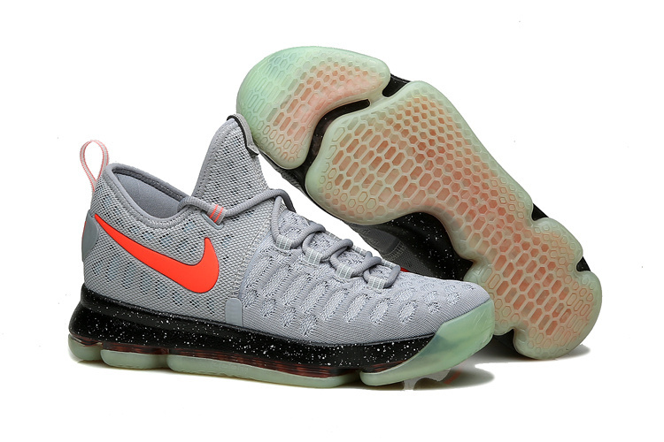KD 9 Limited Edition Gray Black Red Fluorescence 2016 For Sale
