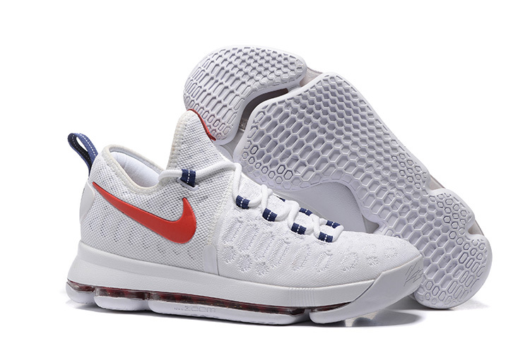 KD 9 USA White University Red-Race Blue 2016 For Sale