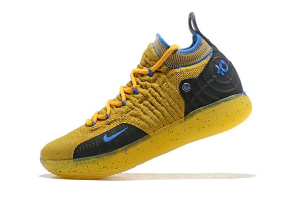 Cheap Kevin Durants Nike KD 11 Yellow Black-Blue Shoes Free Shipping