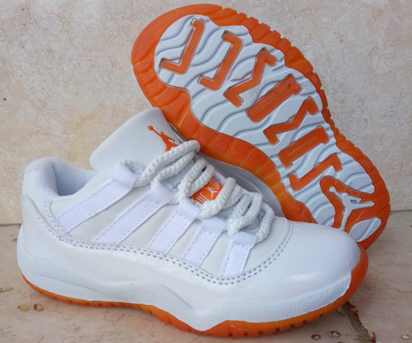 Kids Air Jordan 11 Low Citrus White White-Citrus 2016 For Sale