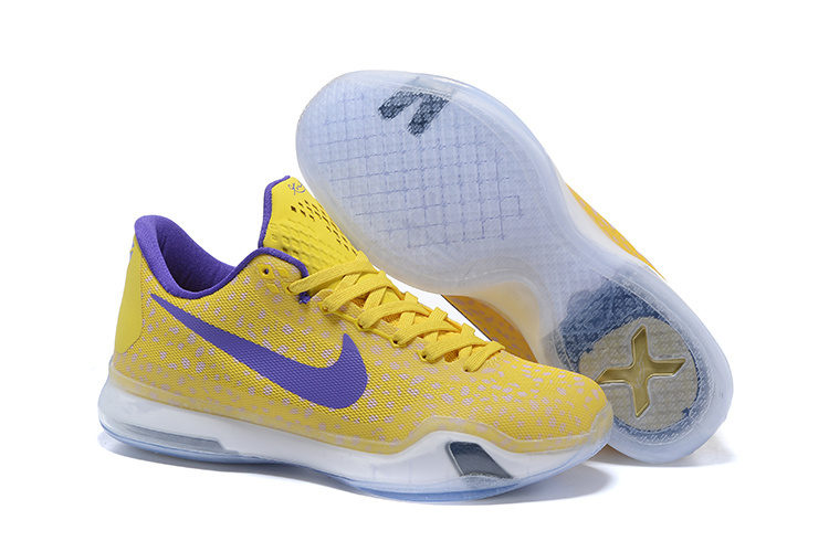 Kobe 10 Safari Print Yellow Purple For Sale