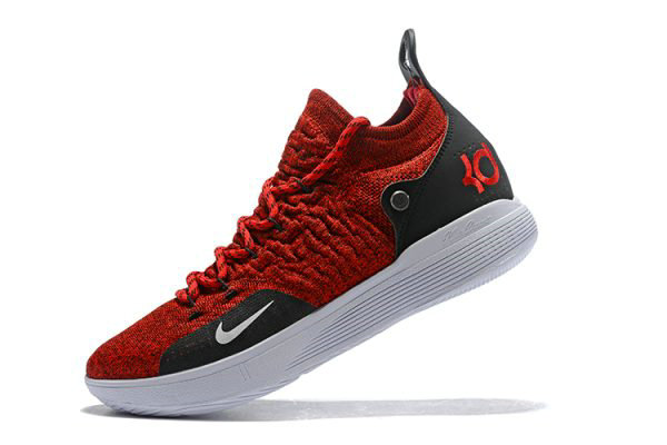 Cheap Latest Nike KD 11 University Red Black-White Mens Basketball Shoes