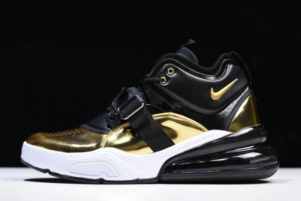 Cheap Mens Nike Air Force 270 QS Gold Standard AT5752-700 On Sale