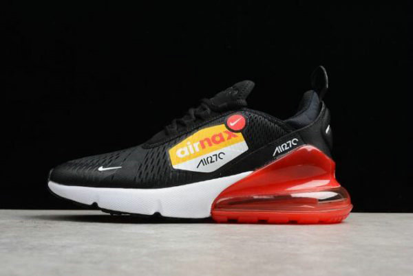 Cheap Mens Nike Air Max 270 BIG LOGO Black Yellow Red Running Shoes AH8050-015