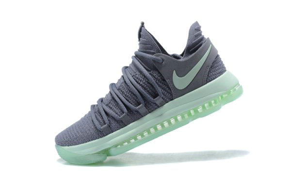 Cheap Mens Nike KD 10 Igloo Cool Grey Igloo-White Basketball Shoes 897816-002