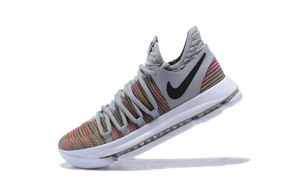 Cheap Mens Nike KD 10 Multi-Color Black-Cool Grey-White 897815-900