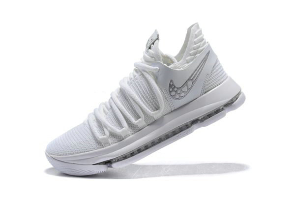 Cheap Mens Nike KD 10 Platinum Tint Vast Grey-White Basketball Shoes 897816-009