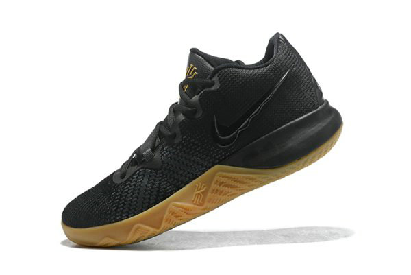 Cheap Mens Nike Kyrie Flytrap Black Gum-Metallic Gold Free Shipping