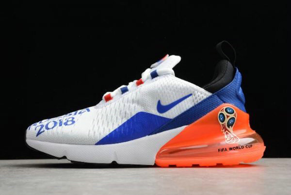 Cheap Mens Nike Max 270 FIFA World Cup Air Russia 2018 White Racer Blue-Orange